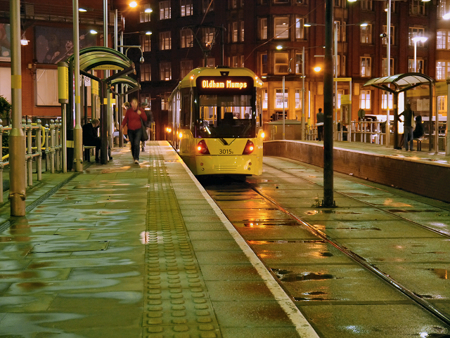 Bridgewater Hall, Manchester trams