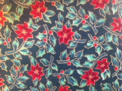 christmas fabric, holly