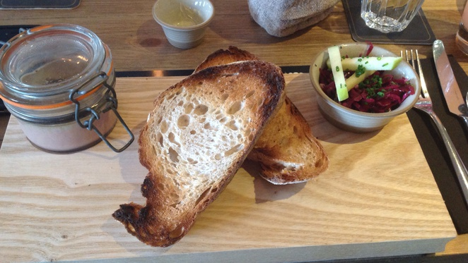 Scran and Scallie, Tom Kitchin, Stockbridge, edinburgh, gastro pub, chicken liver parfait