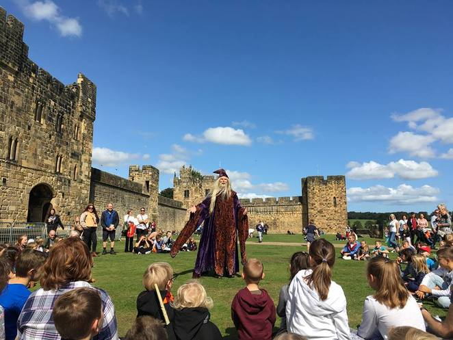 Alnwick Castle, Harry Potter, Northumberland, Downton Abbey, castle, knights, Dumbledore, Magic Show
