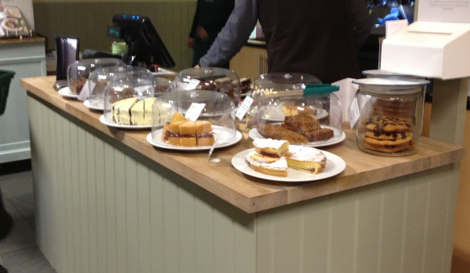 Cake counter, Hartley Farm Shop and Cafe