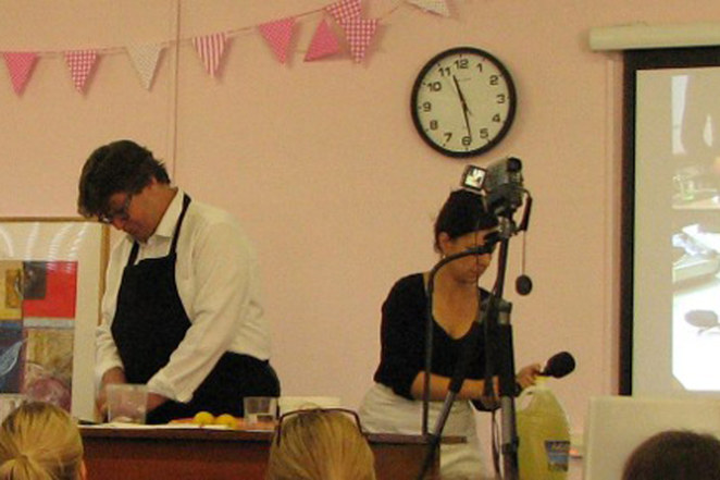 Cookery demonstration at Barnes Food Fair
