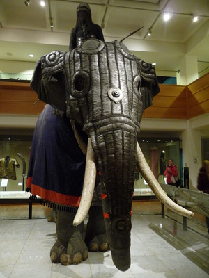 Elephant armour, Leeds armouries, museum
