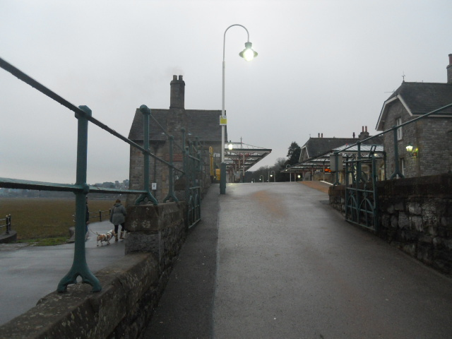 grange over sands, grange, railway station