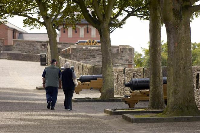 Londonderry Derry Ireland City Walls Double Bastion Cannon Roaring Meg Bogside