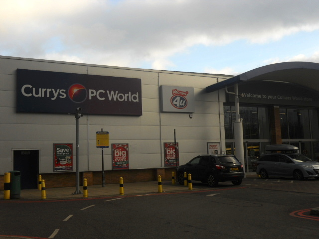 colliers wood, priory retail park, curry's