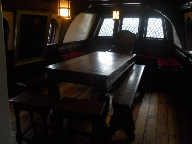 golden hinde, dinning room, dinning table