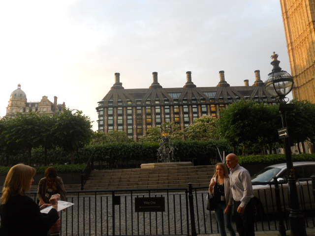 Houses of parliament, portcullis house, westminster hall