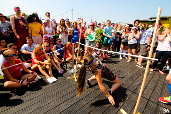 limbo, no sweat sports day, queen of hoxton, summer rooftop club