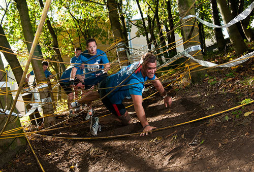 obstacle course, london river rat race