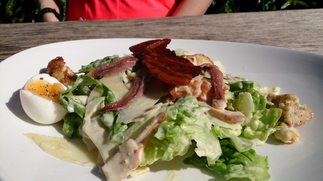 Spaniards Inn, Hampstead Heath, garden, table 30, Caesar Salad