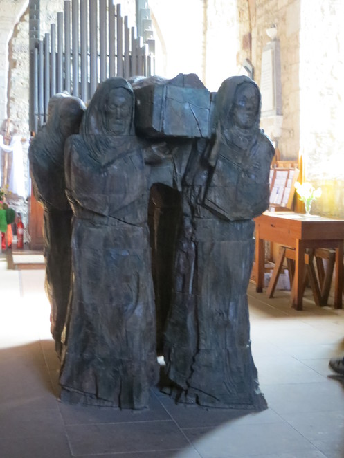 lindisfarne, st mary the virgin, sculpture, holy island, northumberland