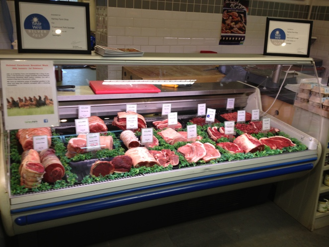 Meat counter, Hartley Farm Shop and Cafe