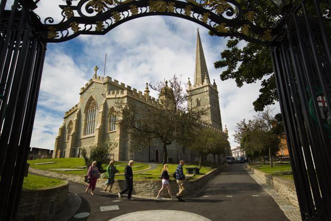St Columb's Cathedral Derry Londonderry City Walls Ireland
