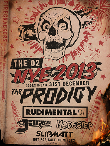 the prodigy, nye, new year's eve, o2 arena