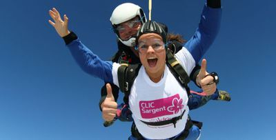world record, skydive, charity, fundraising, children with cancer
