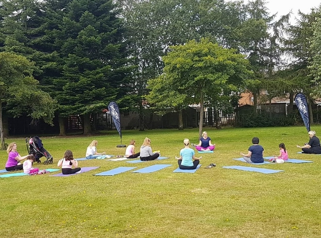 Yoga, Burntwood Park, Lichfield Festival of Sport