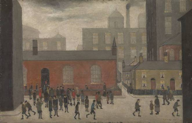 Lowry and the painting of modern life, tate, 'Coming Out of School