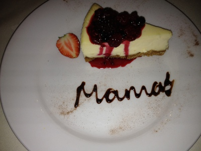 Mamma's white chocolate cheescake