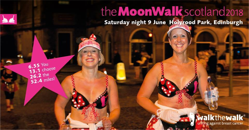 Moon walk breast cancer research
