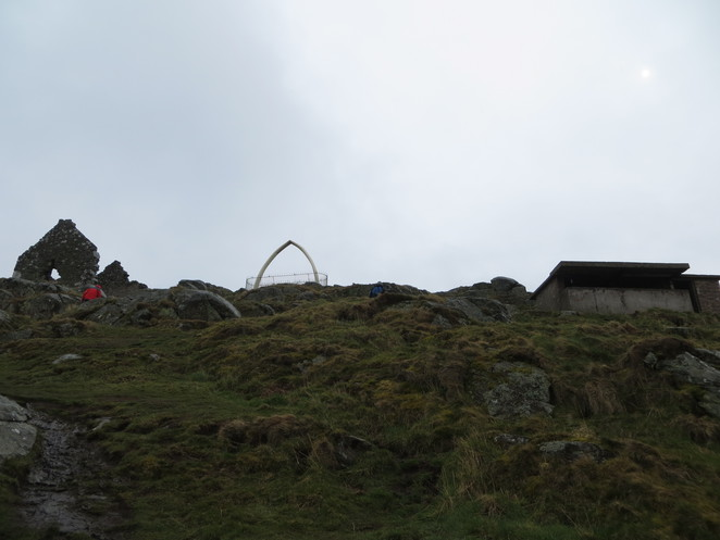 whale's jawbone, north berwick, law, hill