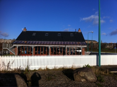 Bridgeview Station Restaurant, cafe, Dunndee, River Tay, view