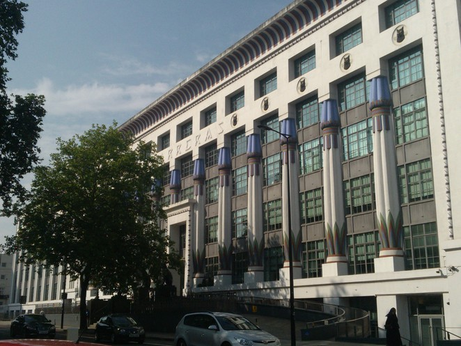 Carreras Cigarette Factory, art deco, Camden, mornington Crescent. Northern line, London