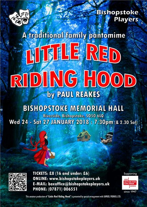 bishopstoke players, pantomime, little red riding hood, community theatre, comedy