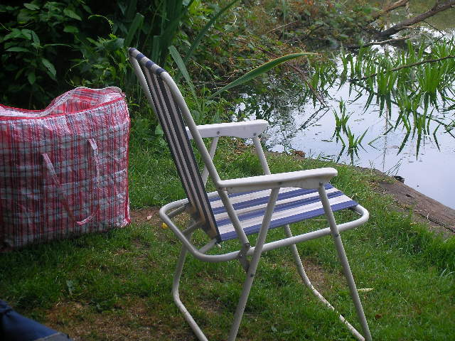 deck chair, fishing
