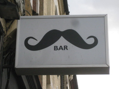 Moustache Bar Dalston sign