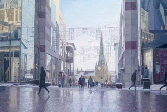 Reuben Colley, Bullring in Winter, Freedom from Torture, Birmingham, Edgbaston, art auction, charity
