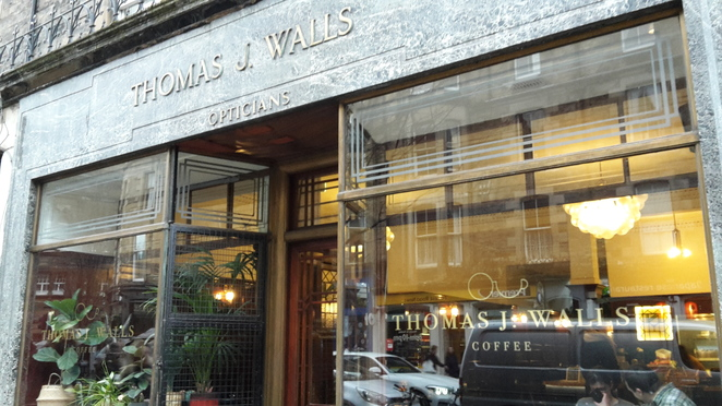 Shop front of Thomas J. Walls