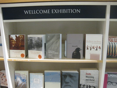 Death A Self Portrait Wellcome Collection bookshop accompanying selection of titles on death