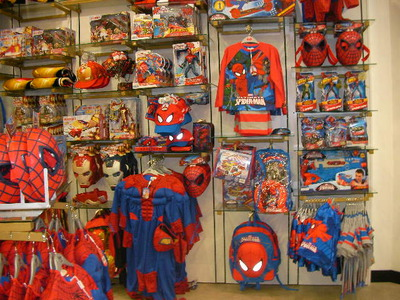 disney store, spiderman