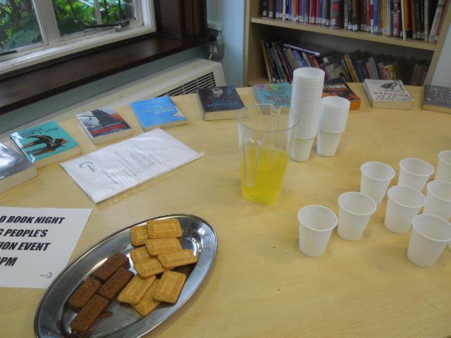 mitcham Library, world book night, young creatives, orange squash, biscuits, bourborn biscuits, custard creams