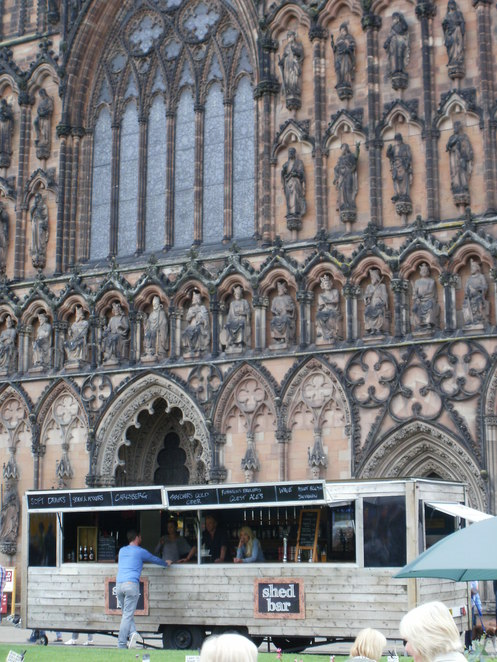 Shed Bar, Lichfield Cathedral, Lichfield Food Festival