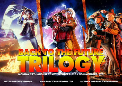 back to the future, marathon, trilogy, prince, charles, theatre