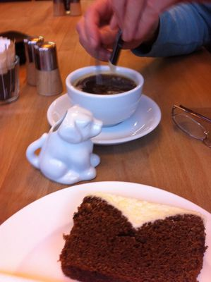 coffee, milk jug, unusual jug, guiness cake, cream cheese topping, 88 degrees, forfar, angus