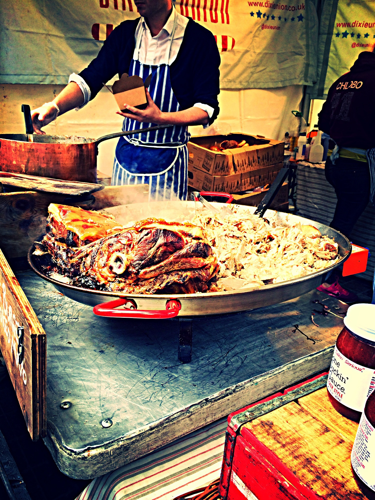 Dixie union food stall at covent garden london for American cuisine in london