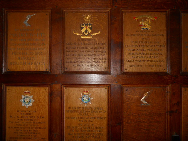 all saints church, kingston, plaques