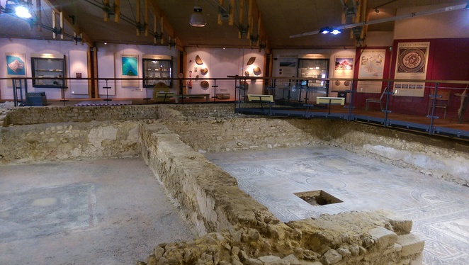 brading roman villa artefacts isle of wight