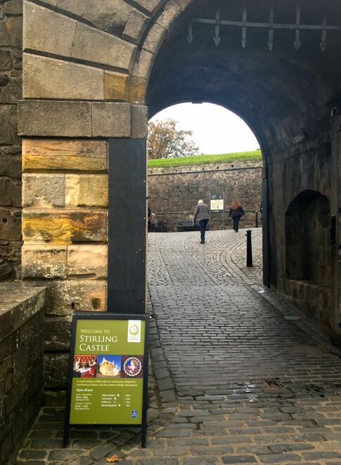 castle entrance,moat,stirling castle,scotland