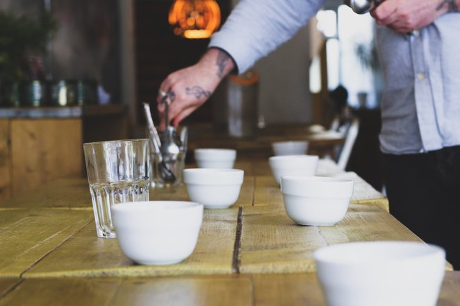 cupping, campbell and syme, southsea coffee, hampshire cafes, coffee in hampshire, portsmouth coffee