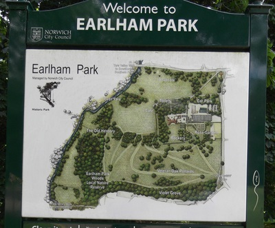 Earlham Park Welcome Board