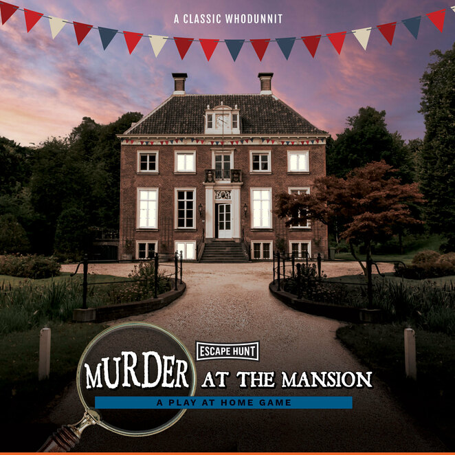 escape hunt, murder at the mansion, review, play at home game