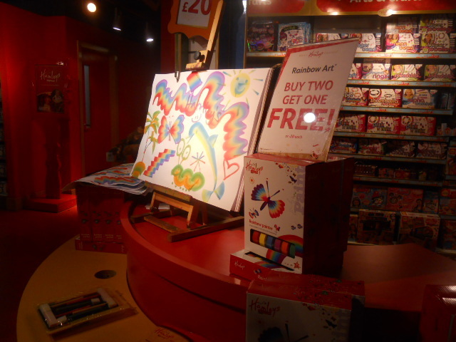 hamleys, rainbow art