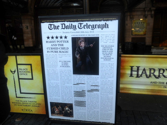 harry potter and the cursed child, palace theatre, review