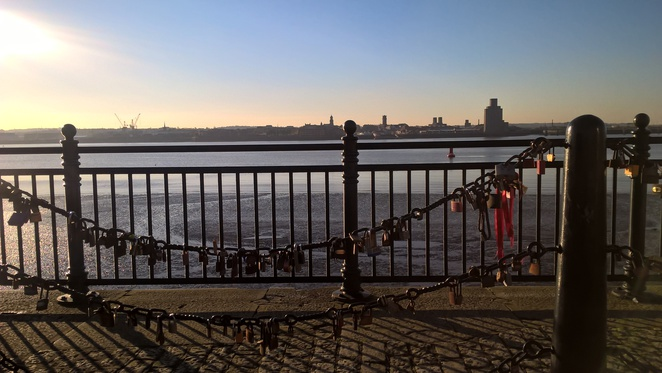 Liverpool, Albert docks, love locks, love lock, padlocks, the docks, River Mersey