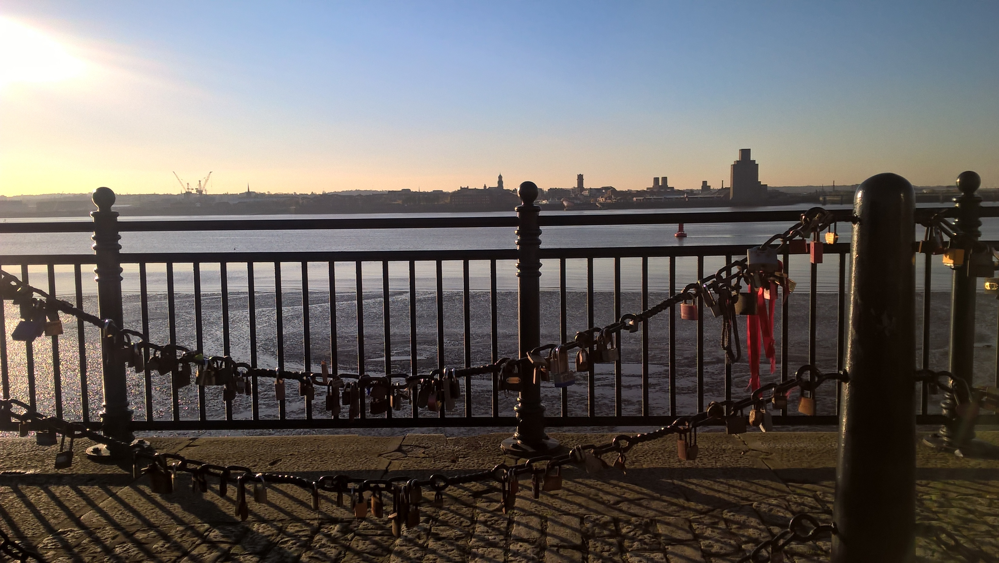 Love Locks at Albert Dock, Liverpool - Liverpool
