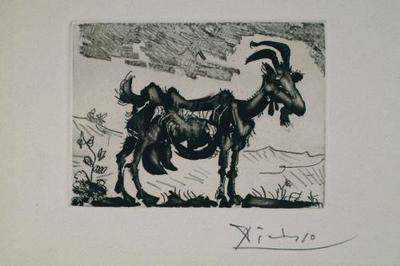 london print fair, La Chevre, Pablo Picasso, 1952
